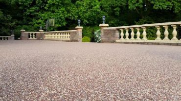 Patios, terraces and balconies with resin bound stone