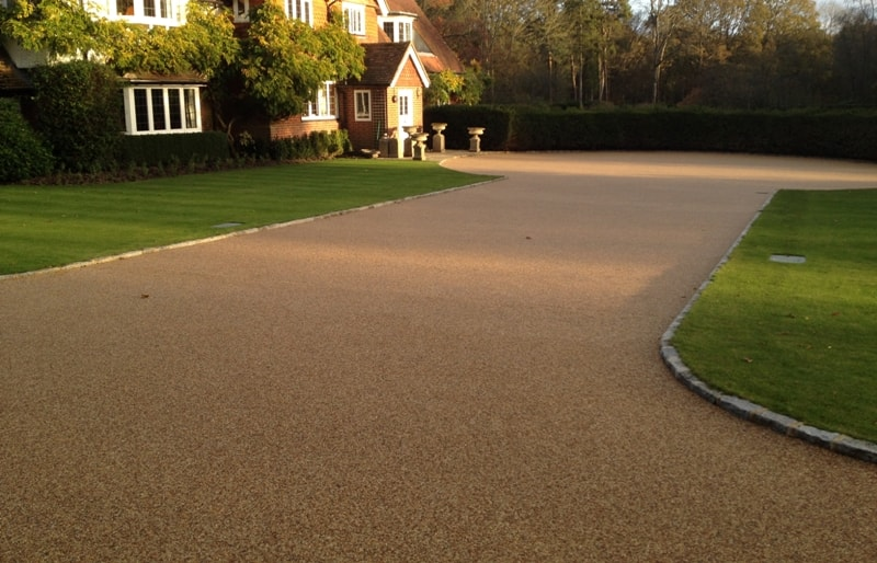 Resin bound stone/gravel driveway install