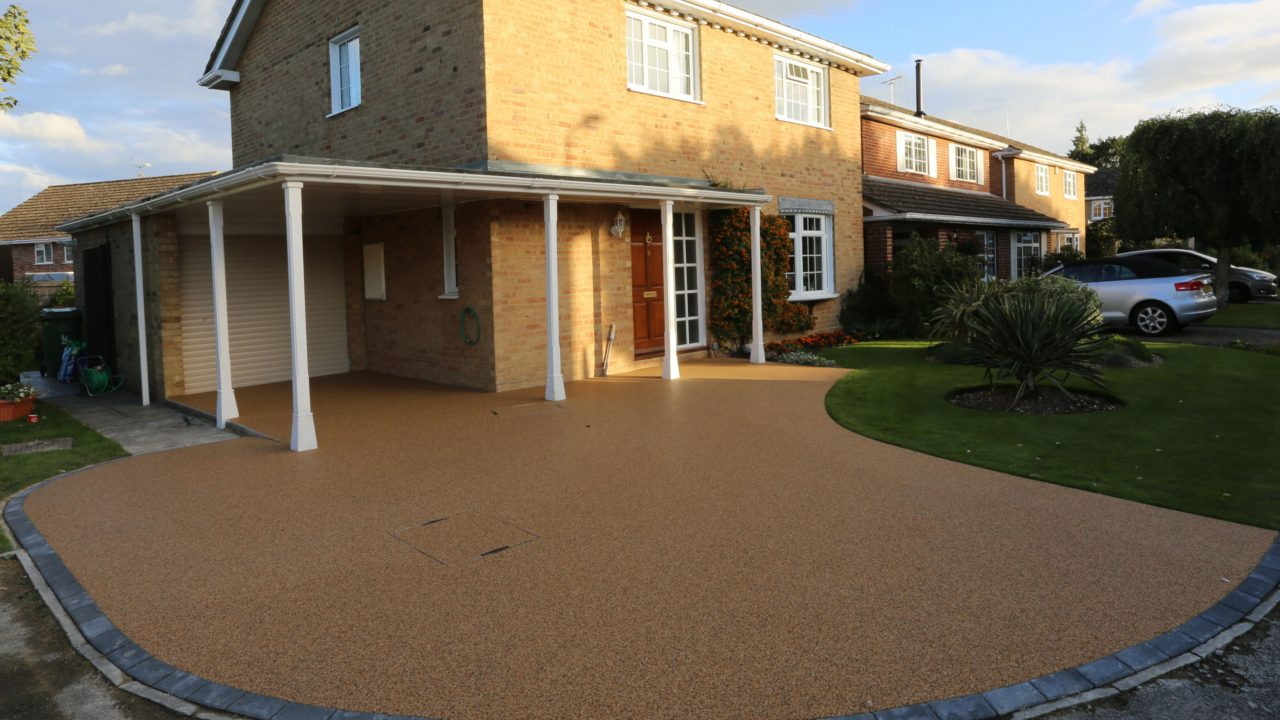 Resin Bound stone driveway after