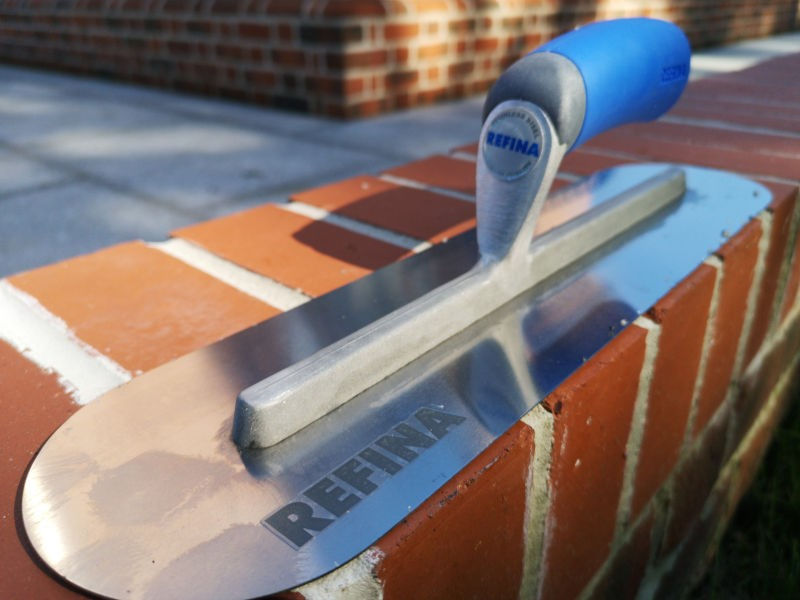 Premium quality stainless steel, rust free, trowel with soft composite handle.
