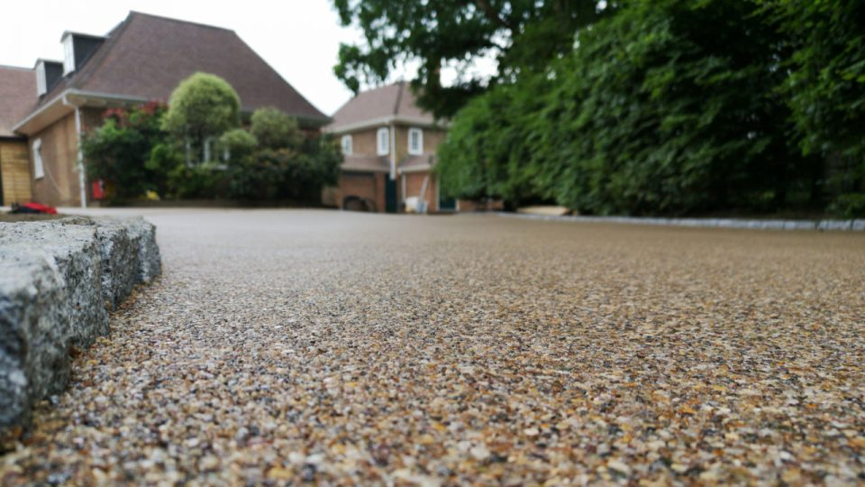Resin Bound Stone driveway natural tan
