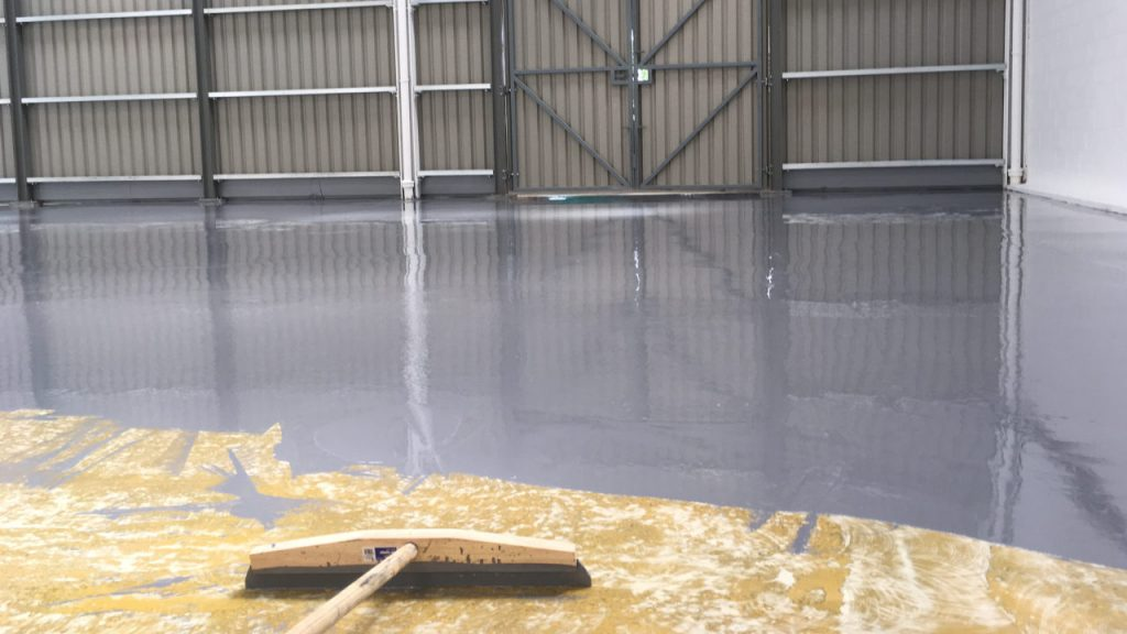 Warehouse floor - high build epoxy coating.
