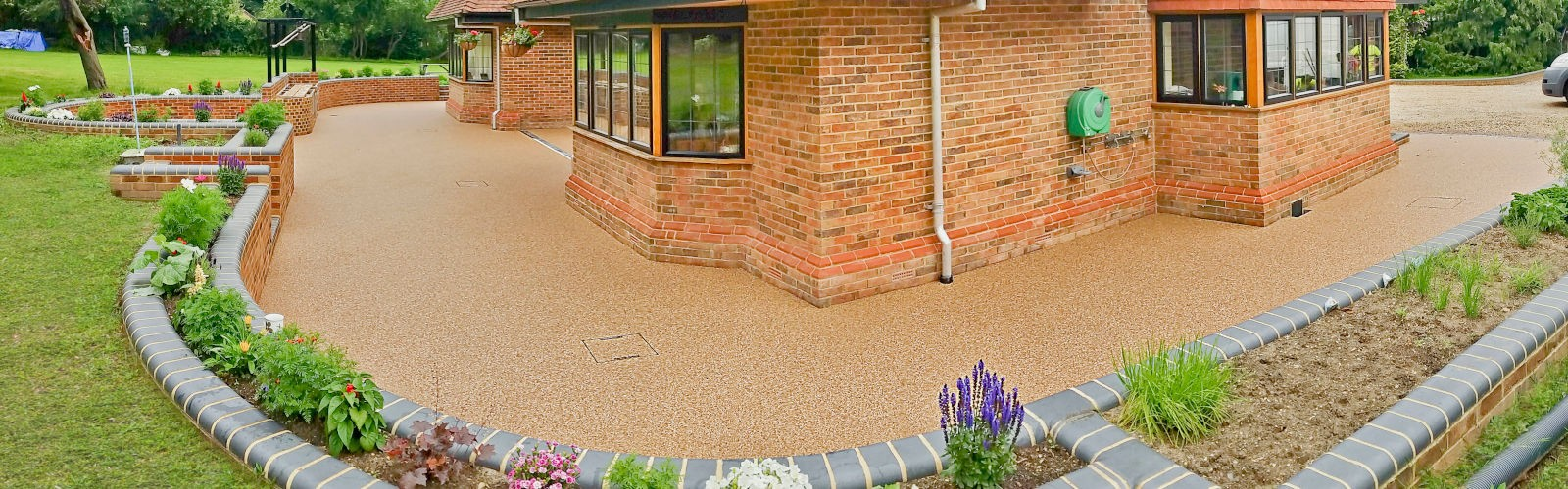 Resin bound stone patio and driveway in UK