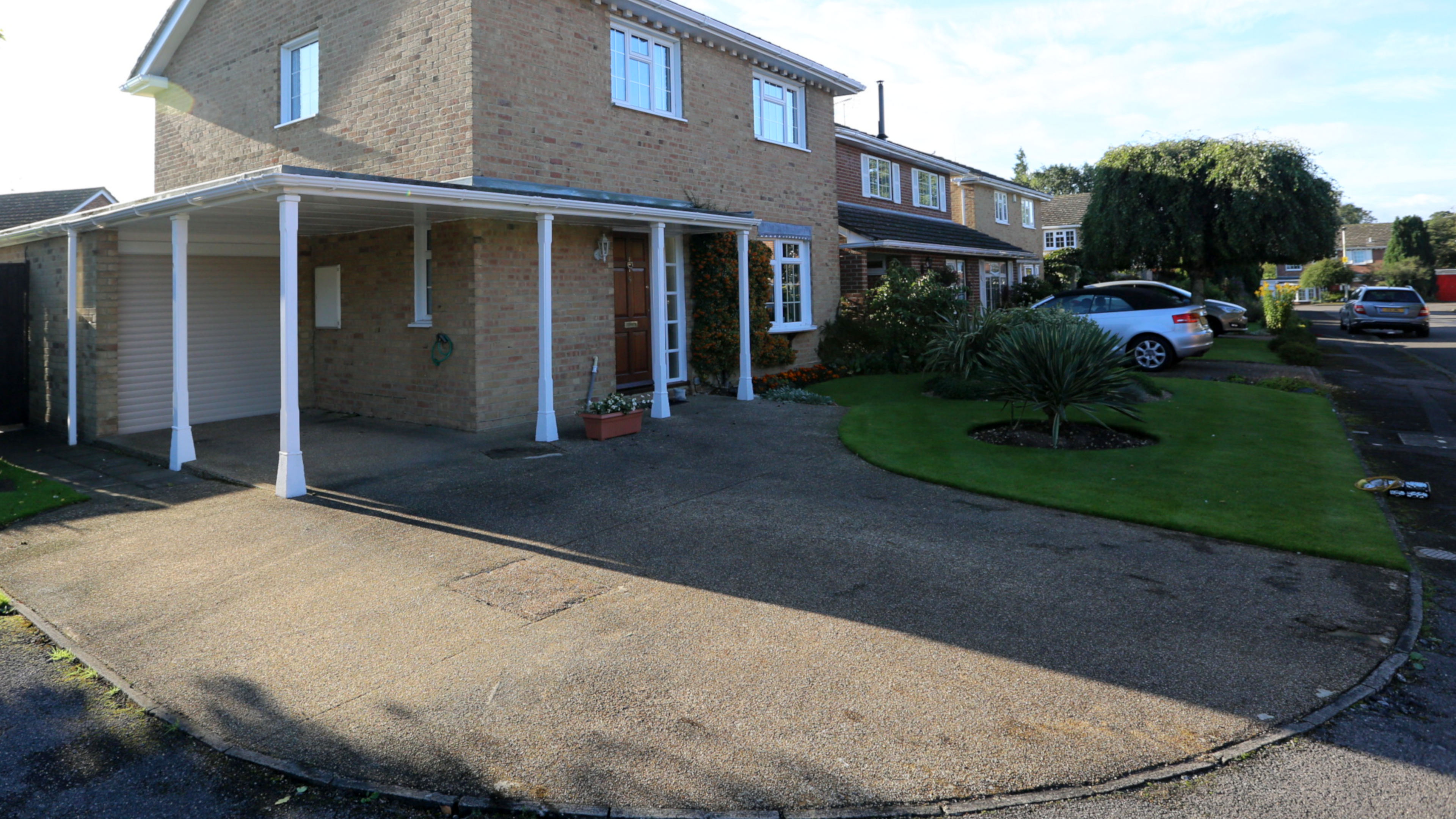 Resin bound stone driveway before