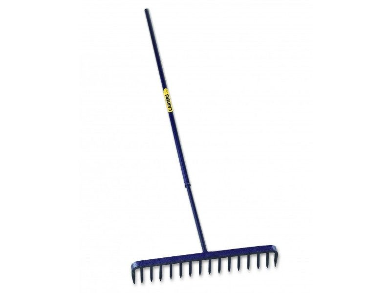 Tooth Round Tarmac Rake with Steel Shaft